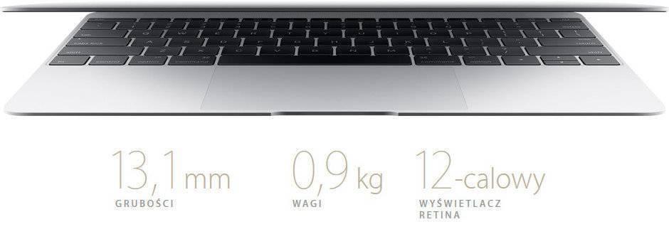 Laptop APPLE MacBook 12 Retina Złoty MLHF2ZE/A, Notebooki - opinie ...