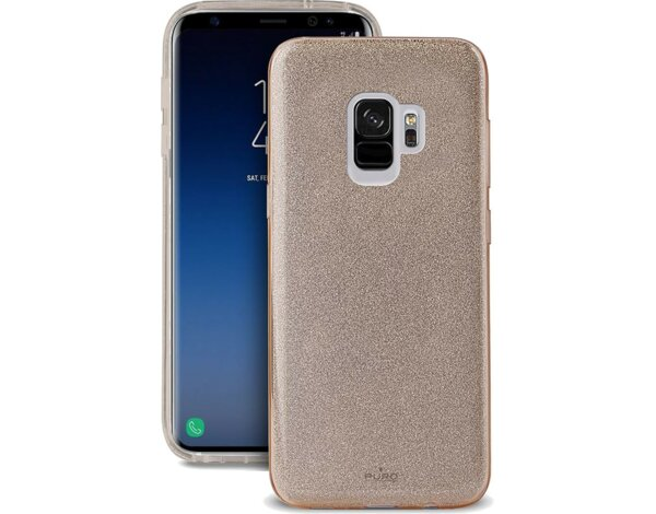 Etui PURO Glitter Shine Cover do Samsung Galaxy S9 Złoty SGS9SHINEGOLD