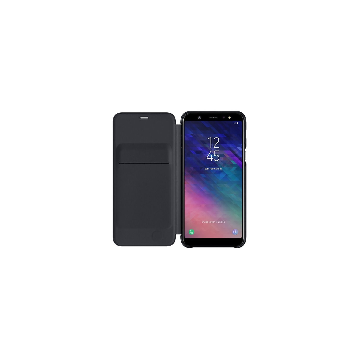 Etui SAMSUNG Wallet Cover do Galaxy A6+ Czarny EF-WA605CBEGWW
