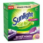 Tabletki do zmywarki SUNLIGHT Expert Extra Power Citrus Fresh 52 szt.