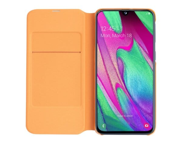 Etui SAMSUNG Wallet Cover do Galaxy A40 Biały  EF-WA405PWEGWW