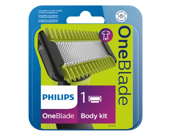 Wymienne ostrza PHILIPS OneBlade Face and Body QP610/50 1 sztuka