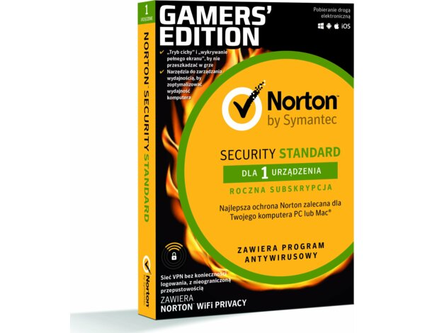 Program Norton Security Standard 3.0 (1 urządzenie, 1 rok) + Notron WiFi Privacy