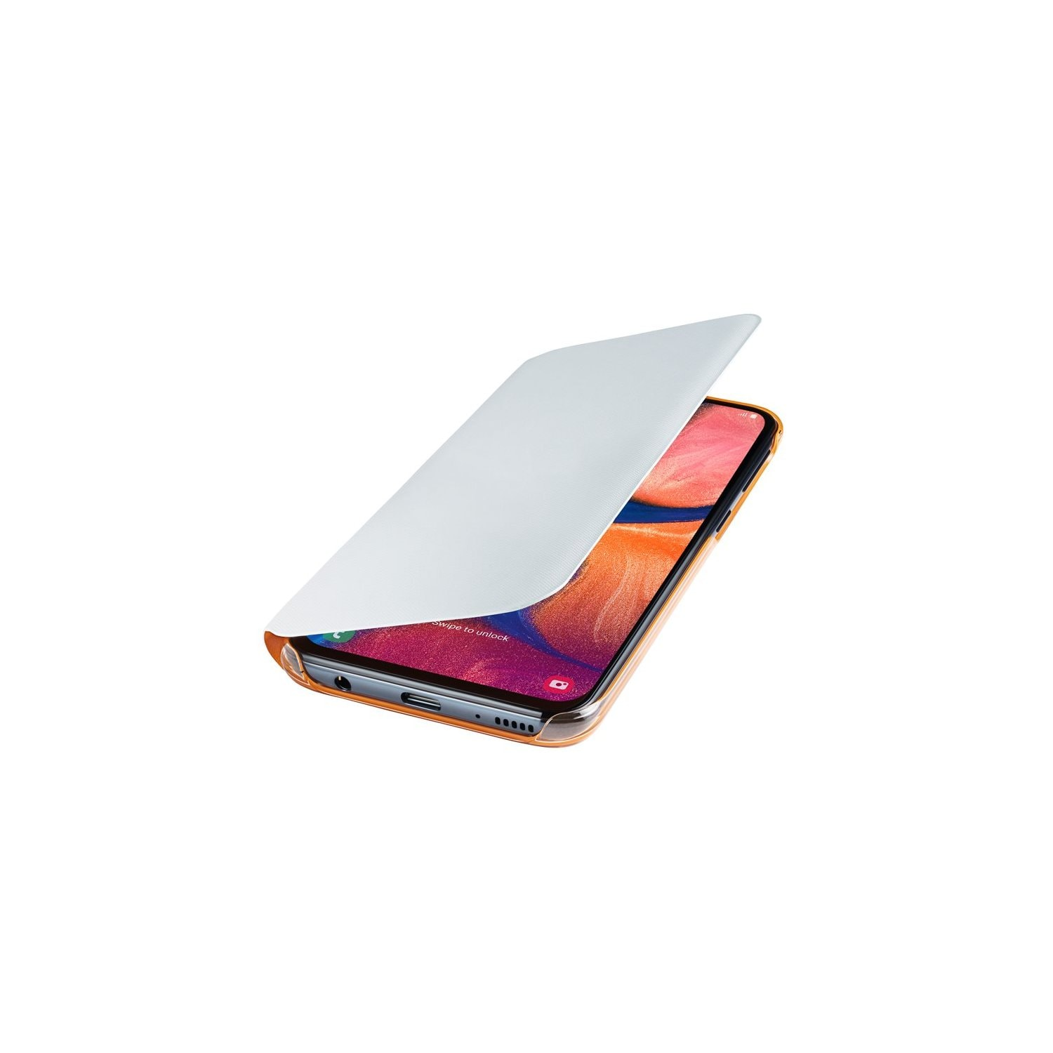 Etui SAMSUNG Wallet Cover do Galaxy A20e Biały  EF-WA202PWEGWW