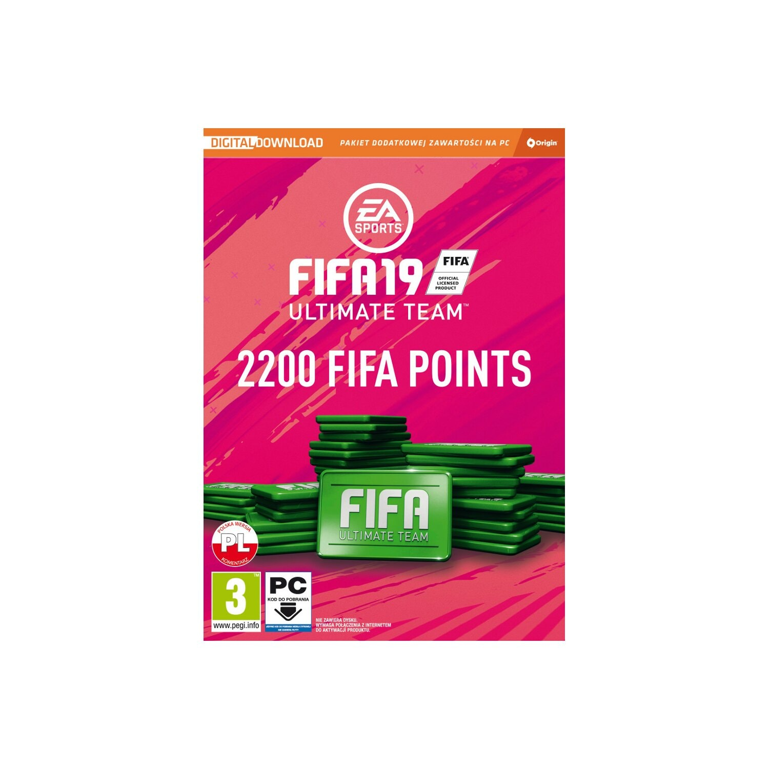 Karta Pre-paid Fifa 19 Ultimate Team 2200 FIFA Points