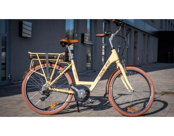 Rower Elektryczny Overfly Grace 104ah Beżowy