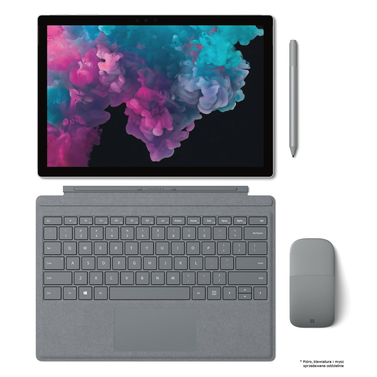 Laptop/Tablet 2w1 MICROSOFT Surface Pro 6 i5-8250U/8GB/128GB SSD/Win10H Platynowy