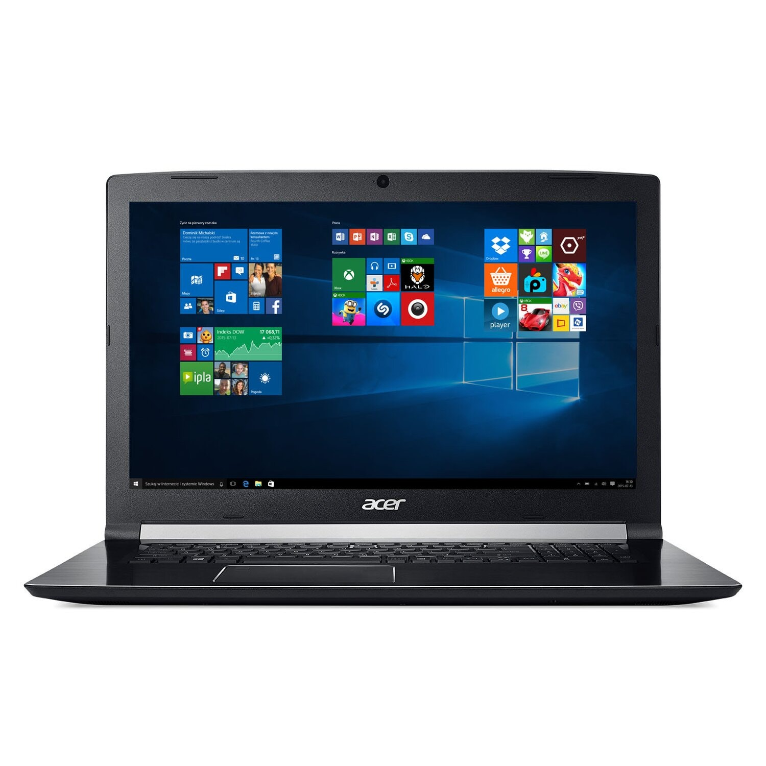 Laptop ACER Aspire 7 A717-71G-54ED i5-7300HQ/8GB/128GB SSD+1TB/GTX1050/Win10H