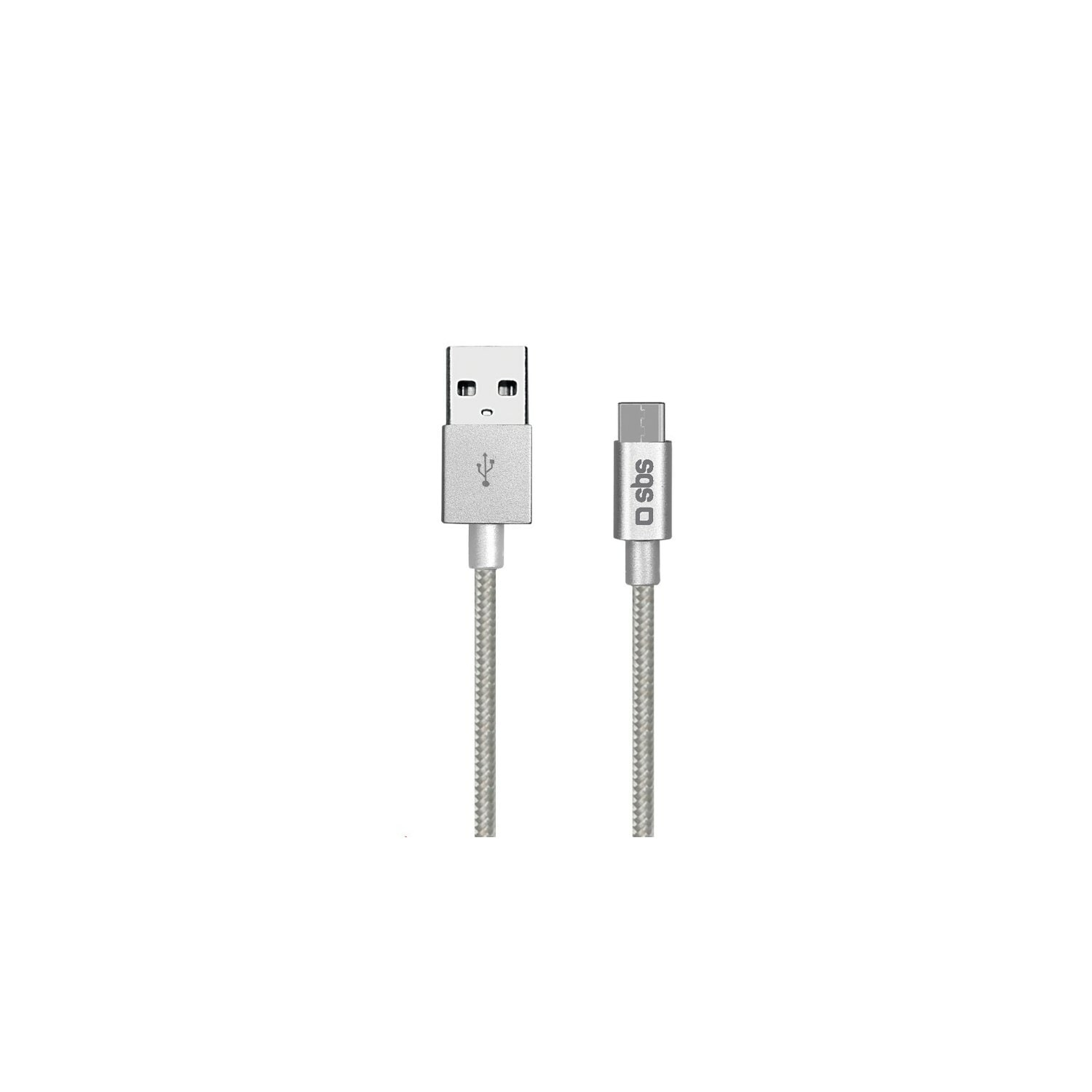 Kabel SBS USB Type C 1.5m Srebrny