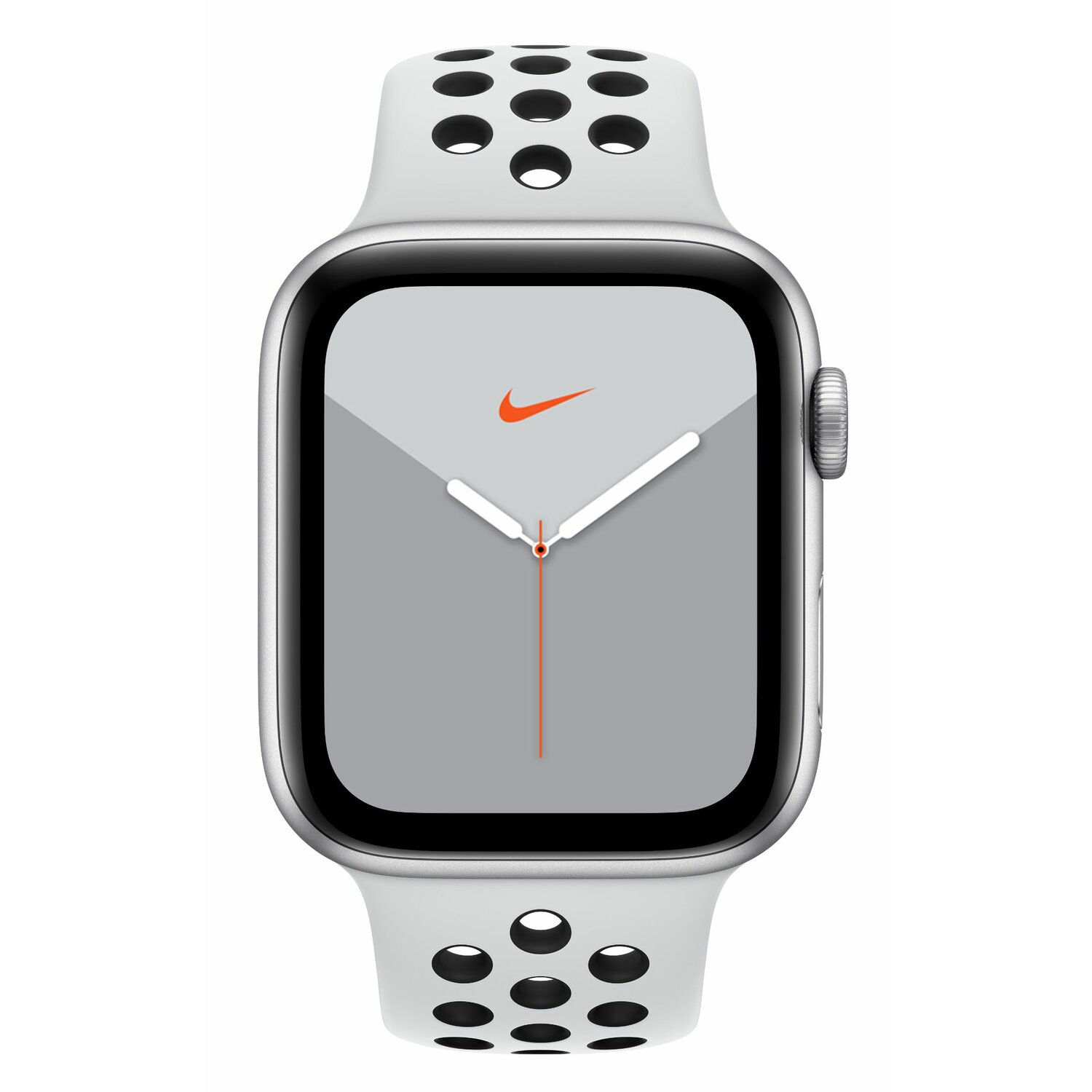 SmartWatch APPLE Watch Nike+ Series 5 GPS+Cellular Koperta 44 mm z aluminium w kolorze srebrnym z paskiem sportowym Nike w kolorze czystej platyny/czarnym MX3E2WB/A