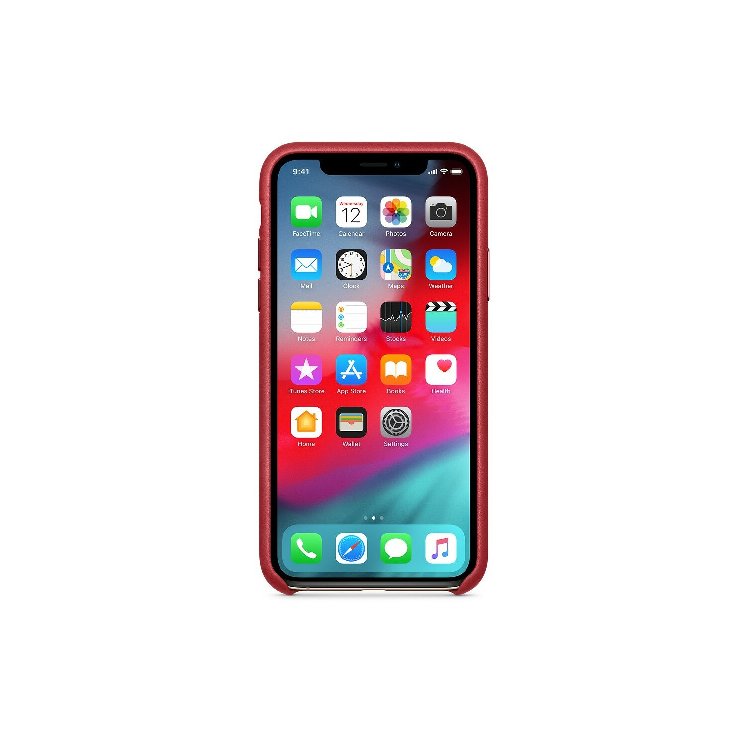 Skórzane etui APPLE iPhone XS (PRODUCT)RED MRWK2ZM/A