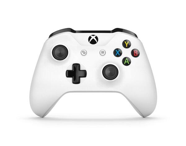 Kontroler Bezprzewodowy Microsoft Xbox One S Bialy Akcesoria Do
